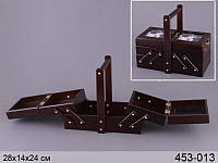 Шкатулка для рукоделия,деревянная Lefard 28х14х24 см 453-013
