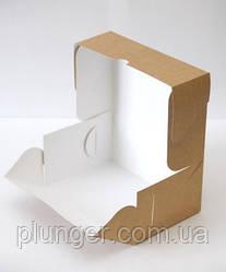 Коробка-контейнер для кондитерських виробів, Крафт