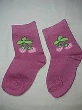 Детские носки для девочки с земляникой - стелька (12-14см), 80% коттон, 20% полиэстер