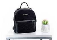Женский рюкзак сумка эко-кожа/замша XS HARVEST черный (женский рюкзак, сумка женская, сумка, сумка-рюкзак)