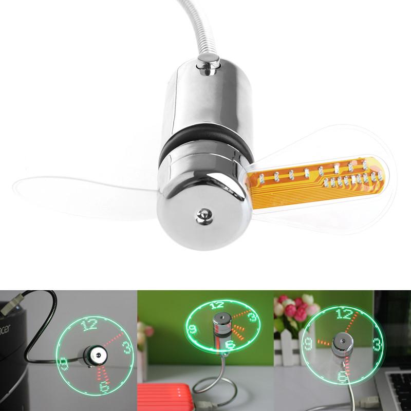Крутий USB вентилятор - годинник Deek-Robot №606