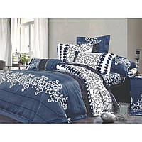 8630 синий Полуторное постельное белье ранфорс Viluta