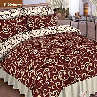 5400 кор. Двуспальное постельное белье ранфорс Viluta