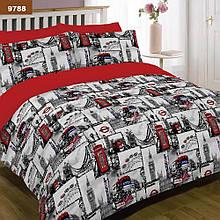 9788 Двуспальное постельное белье ранфорс Viluta