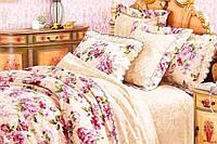 Романтика Евро постельное белье ранфорс Platinum Viluta