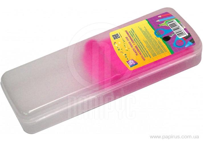 """Пенал """"CoolForSchool"""" №85557 пластик розовый"""