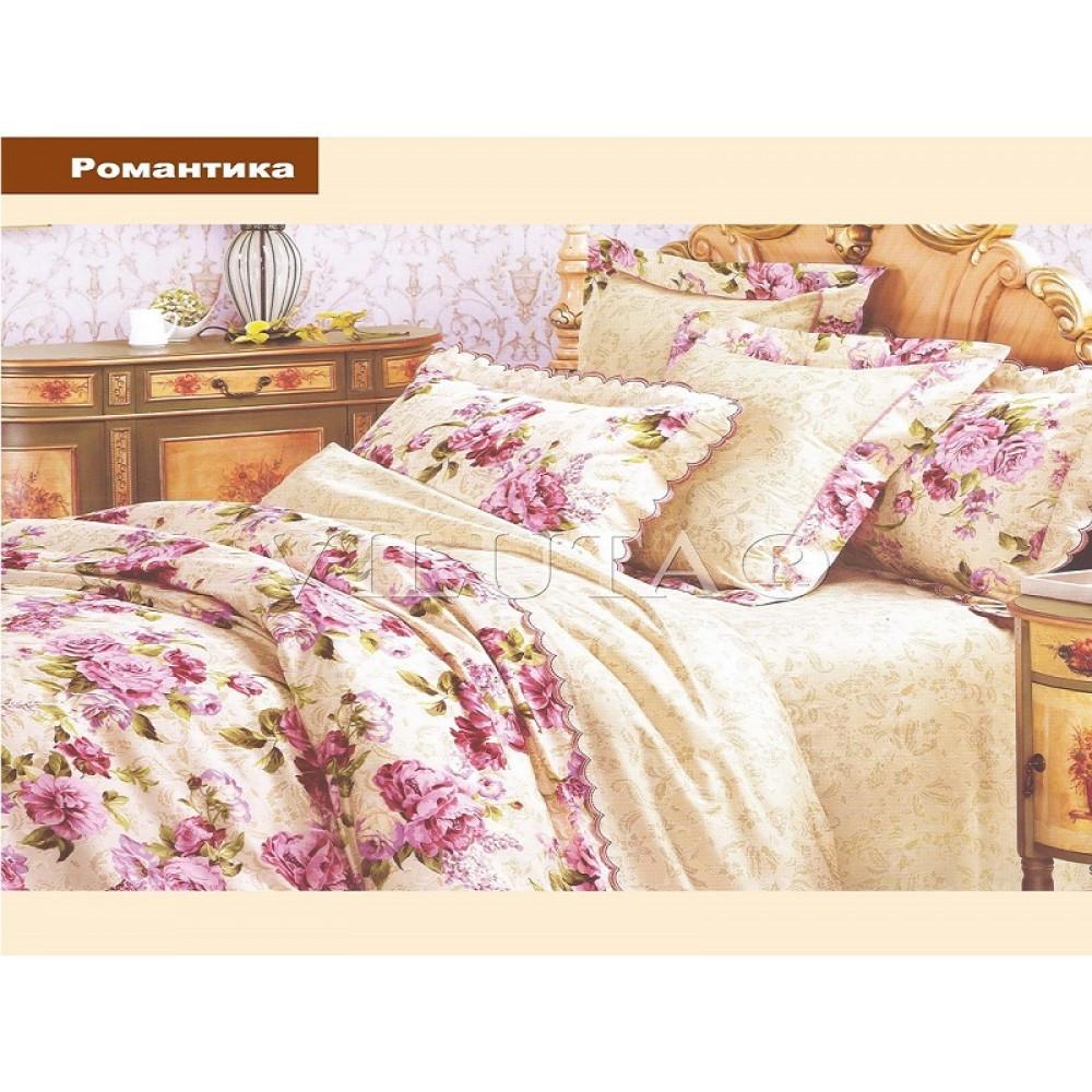 Романтика Полуторное постельное белье ранфорс Platinum Viluta