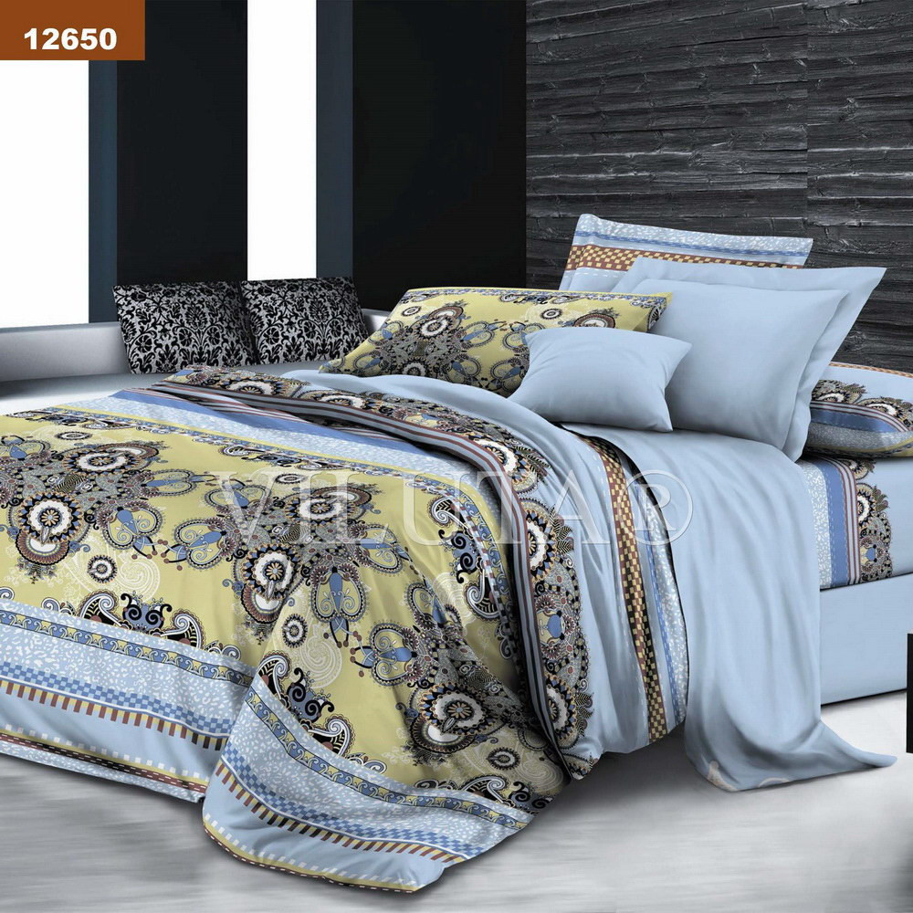 12650 Евро постельное белье ранфорс Platinum Viluta