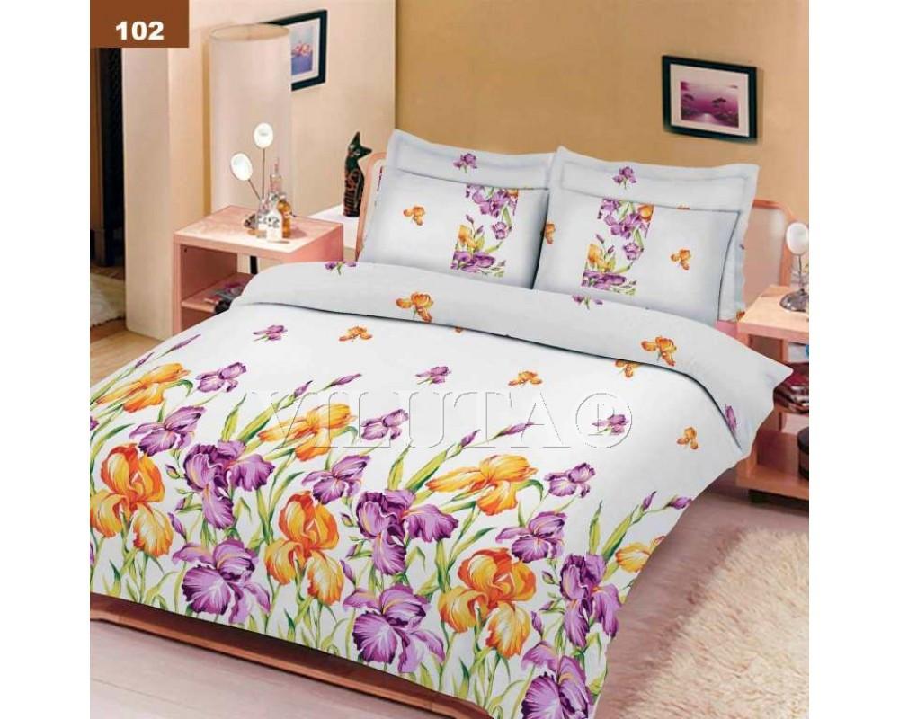 102 Семейное постельное белье ранфорс Platinum Viluta