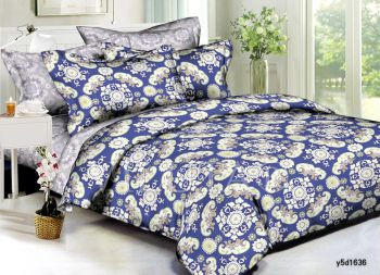 1636 Двуспальное постельное белье Поплин Viluta
