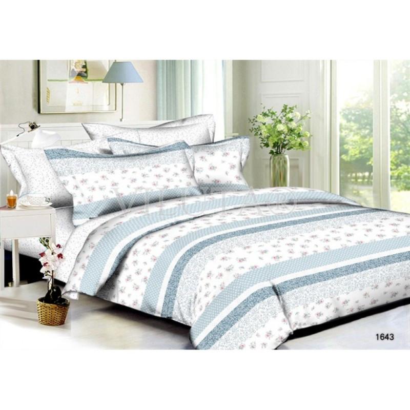 1643 Двуспальное постельное белье Поплин Viluta