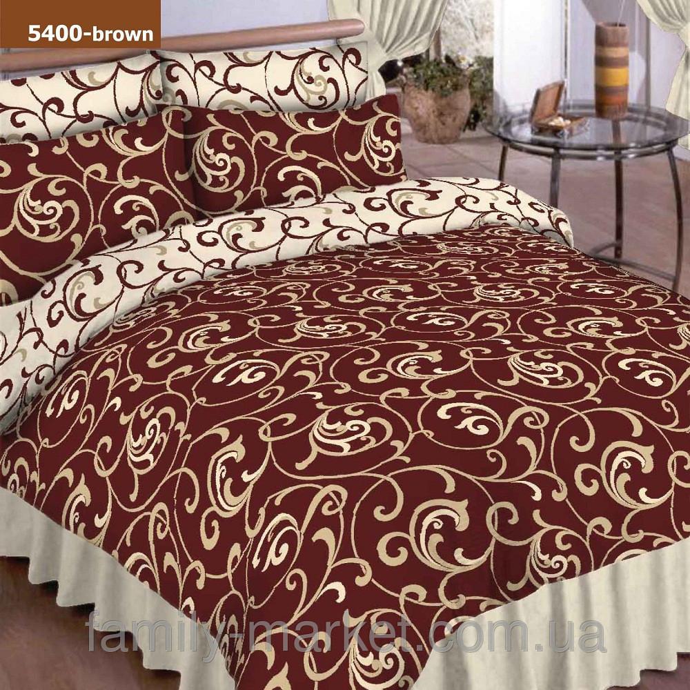 5400 кор. Полуторное постельное белье ранфорс Viluta