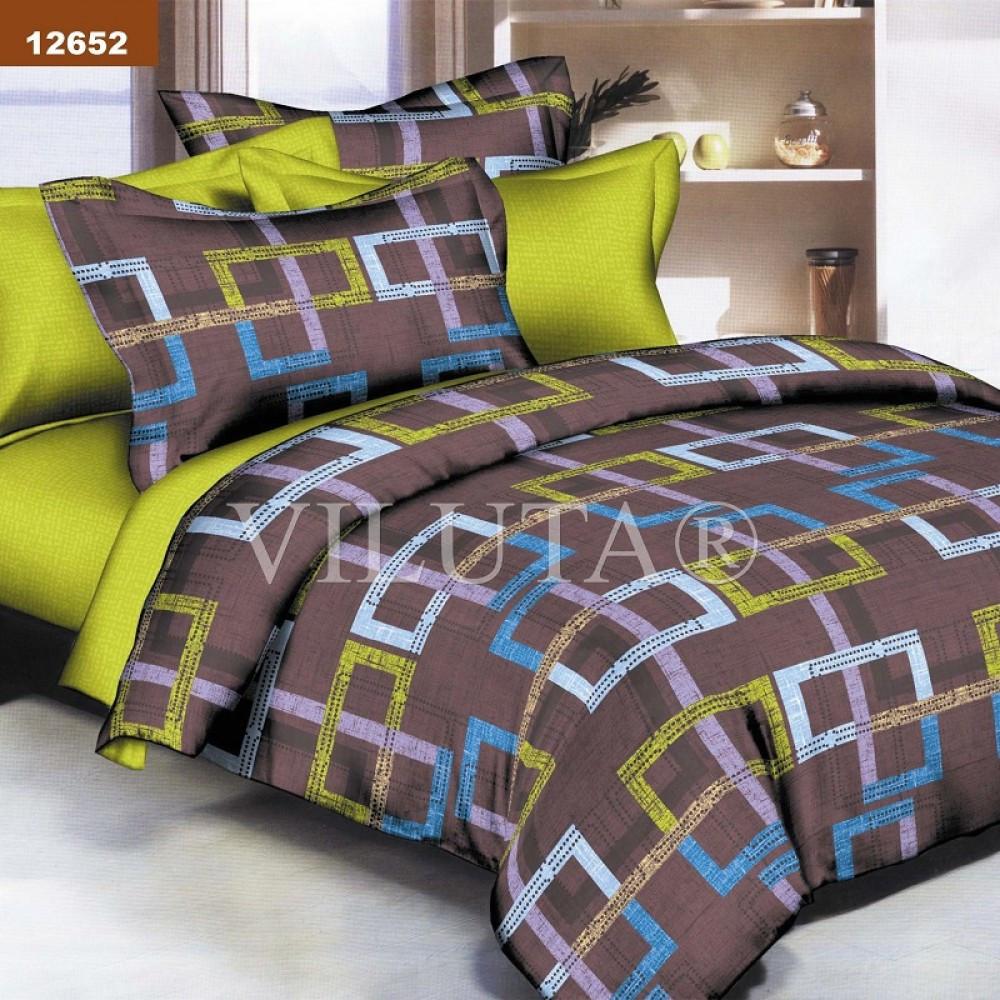 12652 Двуспальное постельное белье ранфорс Платинум Viluta