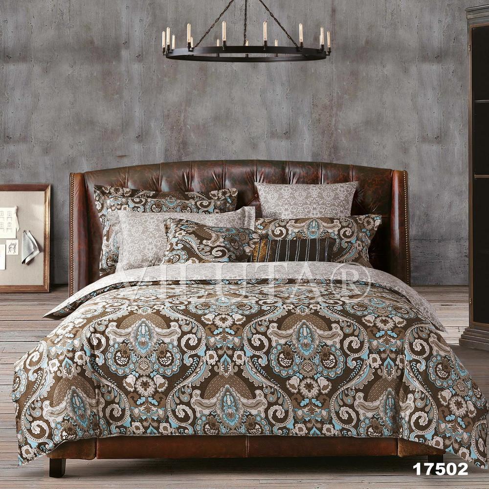 17502 Полуторное постельное белье ранфорс Platinum Viluta