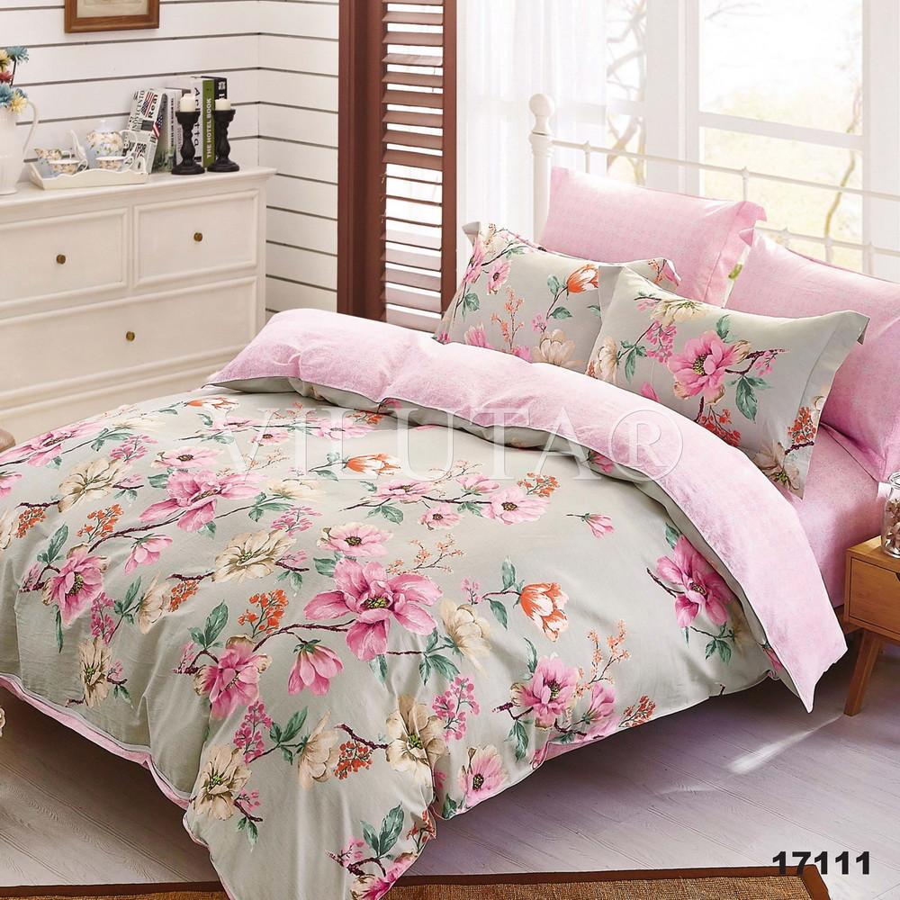 17111 Двуспальное постельное белье ранфорс Viluta
