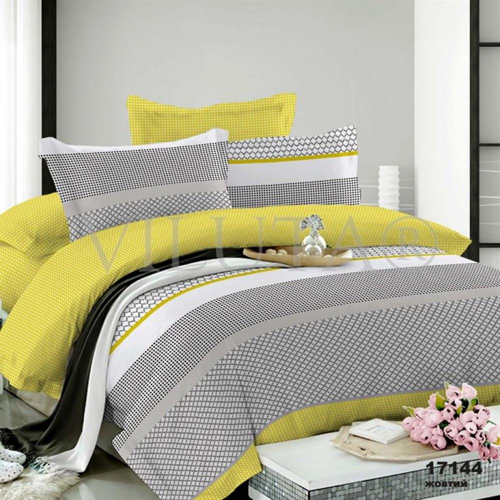 17144 желт. Двуспальное постельное белье ранфорс Viluta