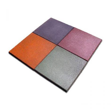 Плитка резиновая 500х500х30 (квадрат) ПГ-3, фото 2