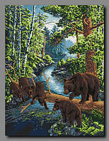 Схема для вышивки бисером Медвежий край