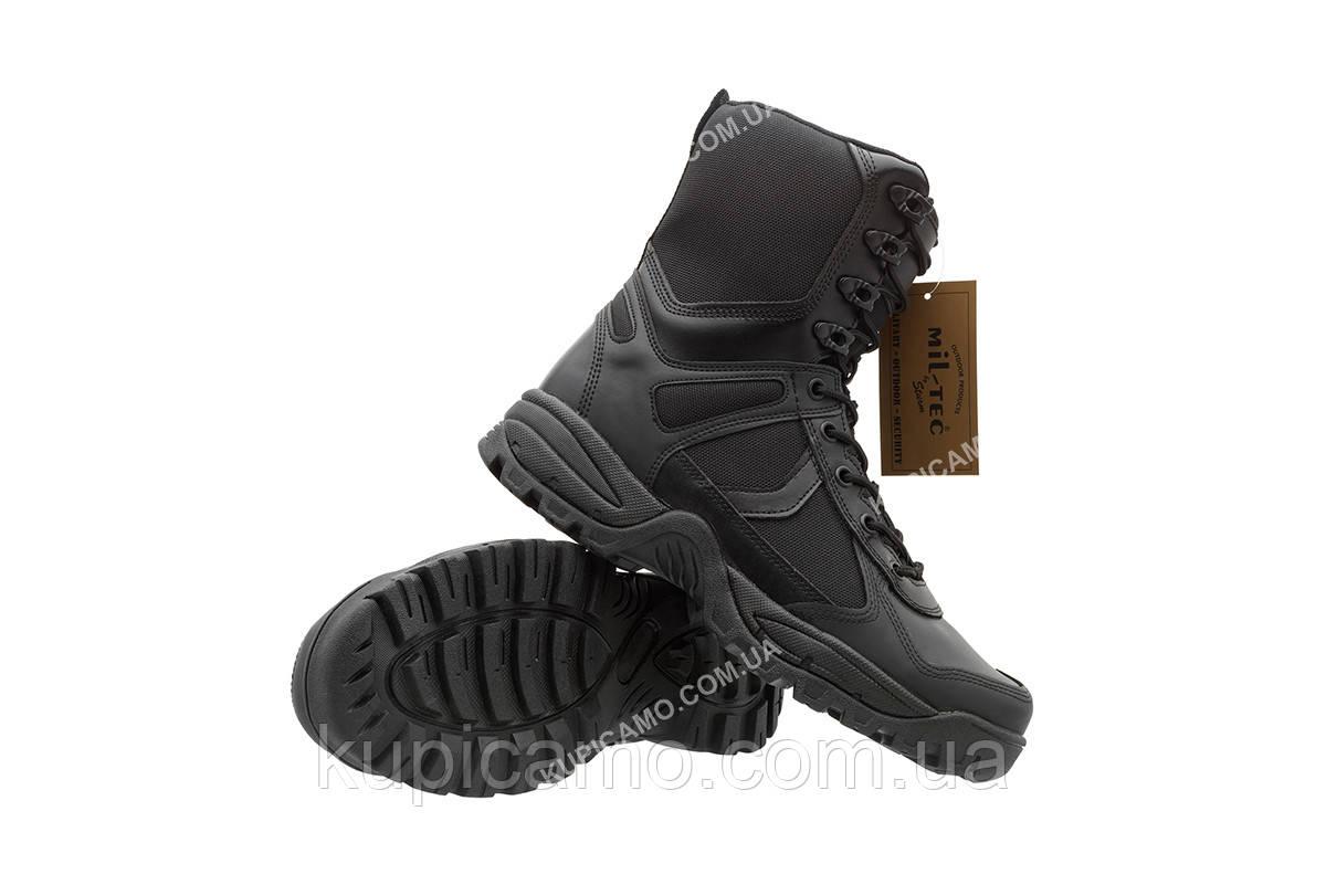 """Берцы трэкинговые  демисезонные  Mil-tec black """"Patrol"""" Boots One-Zip Германия"""
