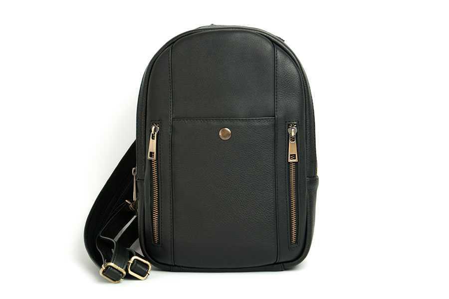 Шкіряний рюкзак Backpack Traveler black