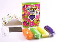 """Масса для лепки с блёстками master do 4 цвета mmd-02-01 - 01-09 + магнит + живые глазки в ассортименте  ціна """"danko toys"""""""