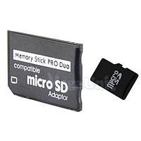Переходник (адаптер) для карт памяти Sony PSP (Pro duo) на microSD