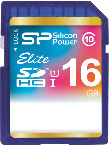 Карта памяти Silicon Power SDHC 16 GB Class 10 UHS-I Elite