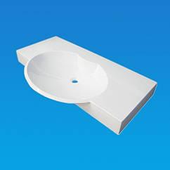 Умывальник FANCY MARBLE CARME 980*550/400, белый