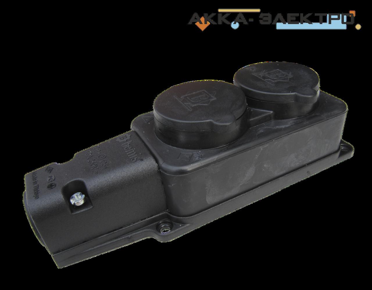 Колодка 2-я каучуковая 220В 16А BEMIS (BK1-1402-3612)