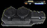 Колодка 2-я каучуковая 220В 16А BEMIS (BK1-1402-3612), фото 4