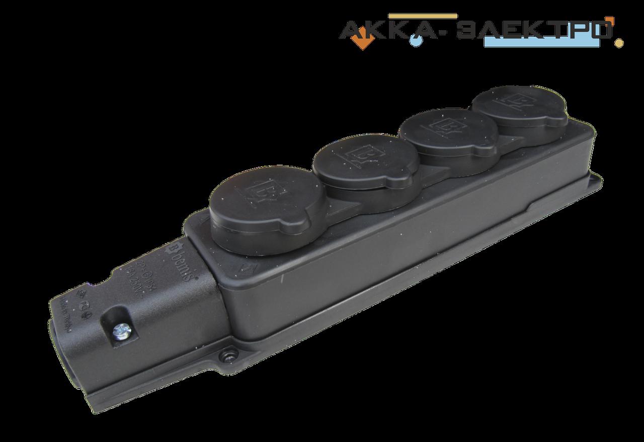 Колодка 4-я каучуковая 220В 16А BEMIS (BK1-1402-3614)