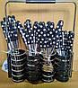 Набор столовых приборов PETERHOF PH-22108 B black