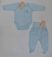 Боди для мальчика из интерлока,цвет голубой БД69а Бэмби 56(р), фото 1