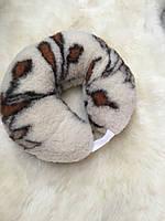 Подушка-рогалик из овечьей шерсти, фото 1