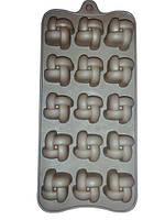 Силиконовая форма 20х12х2см для 15 конфет или льда