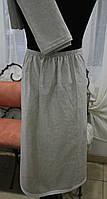 Набор для сауны серый 100% лен, килт + полотенце
