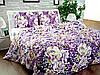 Бязь Gold Фіолетовий з білими квітами 1004-1