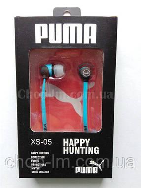 Вакуумные наушники PUMA XS-05 с плоским проводом, фото 2