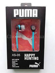 Вакуумные наушники PUMA XS-05 с плоским проводом