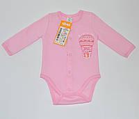 Боди для девочки, ткань байка БД59а Бэмби 62(р)