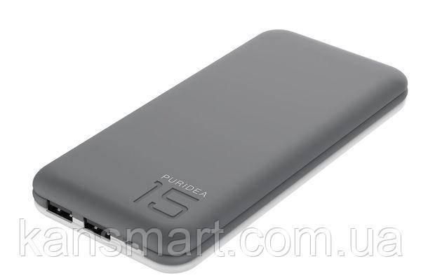 Портативная батарея PURIDEA S3 15000MAH LI-POL RUBBER GREY & WHITE
