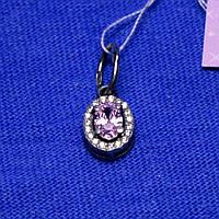 Серебряный кулон с розовым цирконием 31094роз