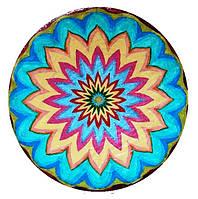 """Декоративная тарелка диаметром 42 см """" СолнцеСияние №7"""" шамотной глины станет изысканным"""