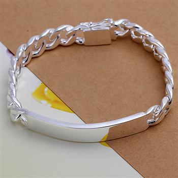 Мужской браслет Tiffany (TF-H181). Покрытие серебром 925