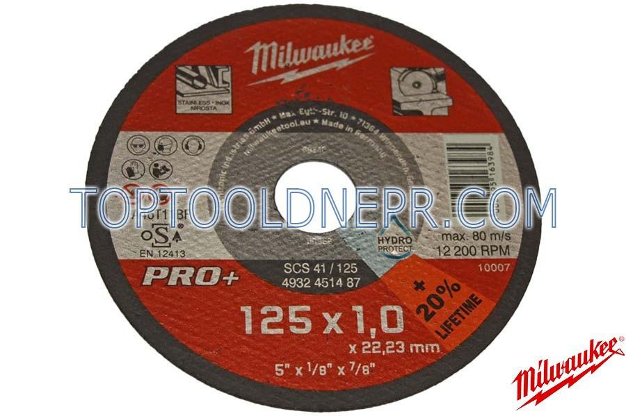 Круг отрезной по металлу Milwaukee 125х1, 4932451487