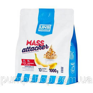 Гейнер высокобелковый UNS Mass Attacker 1 кг (32% белка)