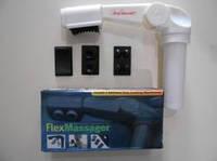 Массажер вибрационный для шеи тела с насадками на батарейках Flex Massager