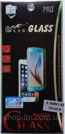 Защитное стекло на Samsung S6  0,18мм 2,5D, фото 2