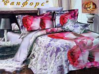 Комплект постельного белья /Хлопок Ранфорс/ (Украина) 200*220 /Евро/