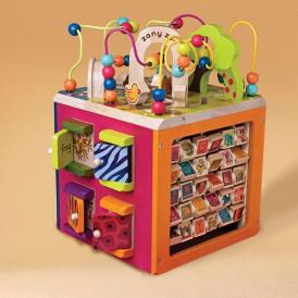 Развивающая деревянная игрушка - ЗОО-КУБ (размер 34х30х45 см) от Batta
